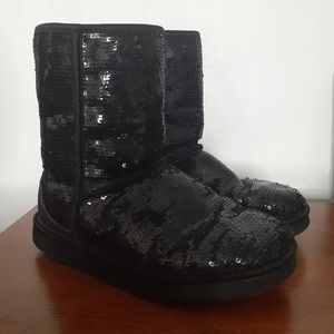 Ugg Classic Short Sparkles Boots Womens Size 7